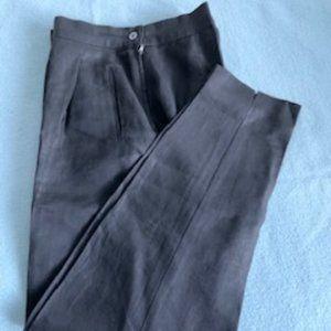 MaxMara black linen pants